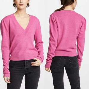 Veronica Beard Calle Cashmere Sweater Pink M